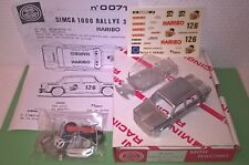 Simca 1000 Rally3 HARIBO 1978 1/43 Kit montaggio Mini Racing
