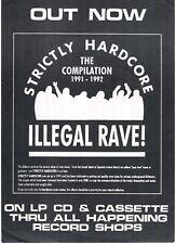 STRICTLY HARDCORE ILLEGAL RAVE Rave Flyer Flyers 1992 A5 Merchandise flyer