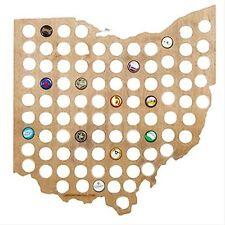 Beer Cap Traps Ohio State Map Beer Soda Pop Bottle Wood Cap Caps Organizer