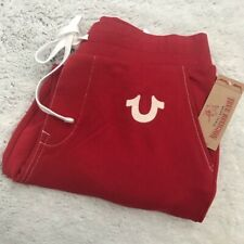 NEW w/Tag-TRUE RELIGION Ruby Red Classic Jogger Sweatpant 3XL