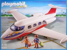 Playmobil 6081 Flugzeug Ferienflieger Privat-Jet Pilot 2 Urlauber  Koffer NEU