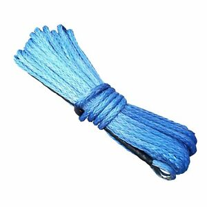 Synthetic Winch Rope - 40M x 10MM (BLUE) 14823096338