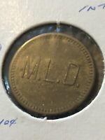 Vintage Token, M.L.D. Good For 25 Cents In Trade Vintage Coin T16