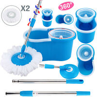 Upgraded Deluxe 360 Spin Mop & Bucket Set household Floor Mop Cleaning System