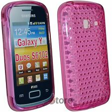 Cover Custodia Per Samsung Galaxy Y Duos S6102 Silicone Gel Fucsia Diamond
