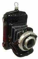 Black Vintage Camera Polish Glass Christmas Ornament Decoration Made in Poland