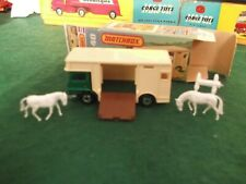 MATCHBOX SUPERFAST No.40 HORSEBOX AND HORSES WITH ORIGINAL BOX