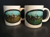 VINTAGE 1978 POLO RALPH LAUREN LIMITED EDITION 2 COFFEE MUGS MINT CONDITION CUPS