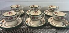 6 Copeland Spode CHINESE ROSE Espresso Demitasse Cups and Saucers