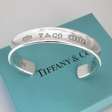 Tiffany & Co Sterling Silver 1837 Wide Cuff Bracelet