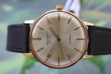 VINTAGE MEN'S BIG GOLD-PLATED RUSSIAN MECHANICAL SEKONDA DELUXE WATCH 23 JEWELS!