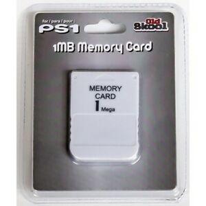 New White 1 MB 1MB Memory Card - (Sony Playstation 1 One PS1 PSX Game Console)!!