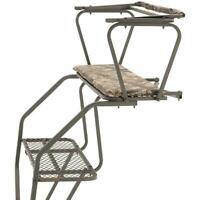 Two Man Ladder Tree Stand 18 Game Stands Gun Bow Hunting Harness Deer 2 Person