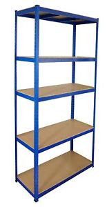 Steel Shelving Racking Unit with 5 Shelves Garage Shelf Storage Unit 2.2m x 1.2m