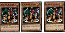 3 x messager Le Illusions fuen-de038, 1 ère Edition, secret rare, MINT