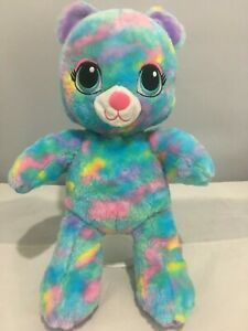 SOFT PLUSH TOY MULTI COLOURED KITTY CAT KITTEN LIMITED EDITION SOFT BUILD A BEAR
