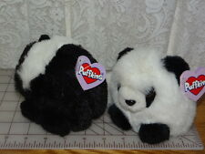 Pluffkins Lot of 2 : Skunk ODIE& Peter Panda. NWT 1997 plush
