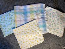 vintage carters baby blanket acrylic satin trim recieving blankets lot 4