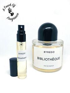 BYREDO - Bibliotheque- Eau de Parfum -10ml atomizer- 100% GENUINE