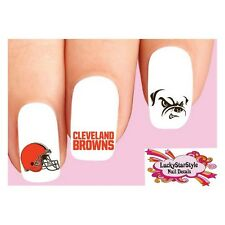 Waterslide Nail Decals Set of 20 - Cleveland Browns Football Assorted