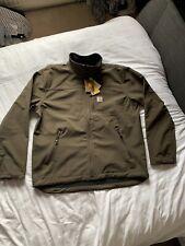 Carhartt Denwood Brown Softshell Regular Mens Zip up Jacket Size XL - BRAND NEW
