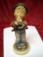 "Hummel Goebel #85/0 ""Serenade"" Figurine Tmk-2 V-Full Bee Boy Playing Horn"
