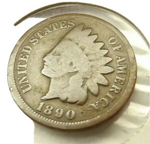 1890 INDIAN HEAD PENNY COIN + FREE SHIPPING!