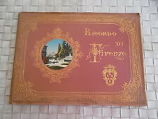 RICORDO DI FIRENZE - 40 GRAVURES ANCIENNES MONUMENTS ET PANORAMA ITALIEN