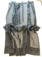 "Sheer Rod Pocket Curtain Panel Black Polyester 59"" x 64"""