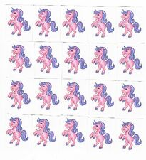 20 x Glitter Pink Unicorn Temporary Tattoos -  Great Kids Party Favours