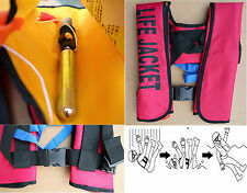 Automatic Inflatable Life Jacket Inflation Swimming Drifting Survival Vest 150N
