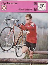 CYCLISME carte cycliste fiche photo ALBERT ZWEIFEL  cyclo cross