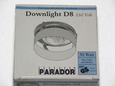 Strahler PARADOR Downlight D8 50 W - gold, weiß + Vorsatzhalter + Leuchtmittel