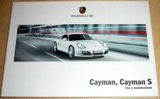 Porsche CAYMAN,Cayman S,libretto di uso e manutenzione 2009 (ITA)