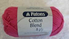 Patons Cotton Blend 8 Ply #25 Flamingo Pink Cotton / Acrylic 50g