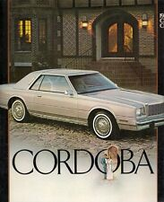 Chrysler Cordoba 1983 USA Market Sales Brochure 3.7-6 5.2-V8