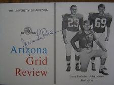 Jim LaRue   Signed 1964 ARIZONA Football Program (LARRY  FAIRHOLM/JOHN  BRISCOE)