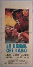 Locandina LA DONNA DEL LAGO 1965 RARA!! VIRNA LISI, VALENTINA CORTESE, P.LEROY