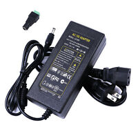 Power Supply Adapter AC 100-240V to DC12V 5A 60W With US Power Cord for LED CCTV