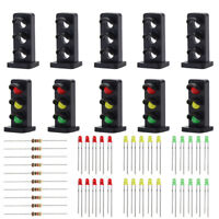JTD25 10 sets Target Faces With LEDs for Railway Dwarf signal O Scale 2 Aspects
