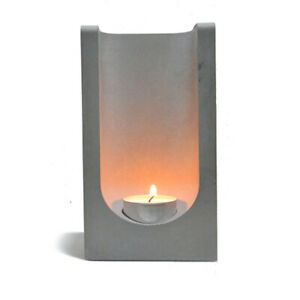 Nicole Concrete Candlestick Silicone Mold Cuboid Cement Candle Holder Mould