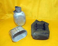 * Vintage Militare in metallo Mensa, Tazza & Borsa di tela  * Periodo Anni 40