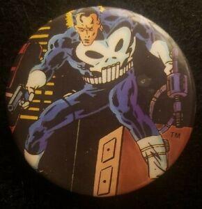 "Vintage The Punisher Frank Castle Marvel Comics Pin Button Badge 2"" Pinback 1987"