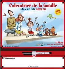Max et Lili ; calendrier de la famille (édition 2019/2020)