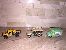Matchbox Set Of 3 Loose Vehicles Haps Top Treats Rock Shocker Land Rover