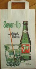 7/Seven-Up Soda/Pop 1980s Dutch Shopping/Advertising Bag - Graphic, 9x14