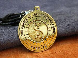 Dudeism pendant, Go with the flow, jewelry, dude Big Lebowski, handmade, brass