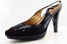 Tahari Slingbacks Black Patent Leather Women Shoes Size 8 Medium (B, M)
