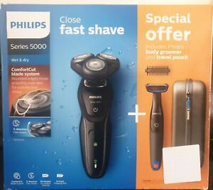 Philips Wet & Dry Comfortcut Series 5000 Shaver+Body Groomer&Pouch S5082/64*NEW*