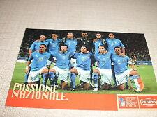 CARTOLINA CALCIO SQUADRA SCHIERATA NAZIONALE ITALIANA ANNI 2000 SPONSOR PERONI